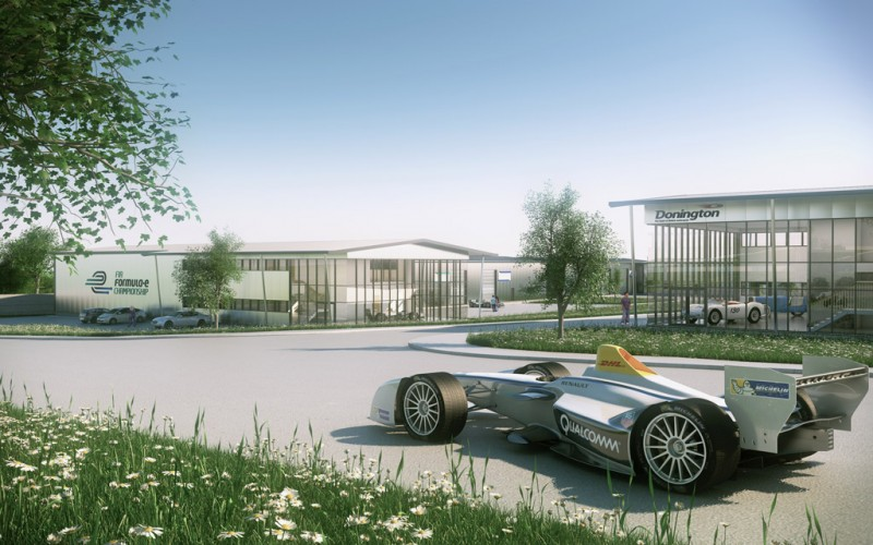 An artist's impression how the new Formula E headquarters will look