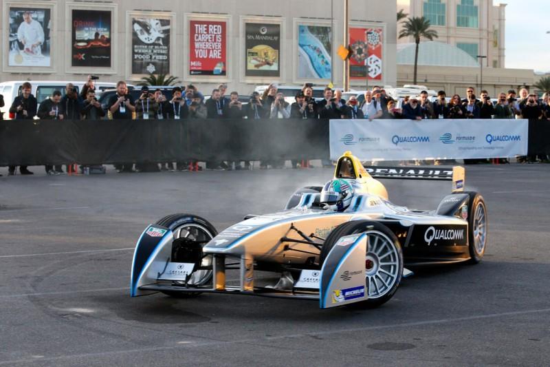 Formula E SRT_01E first public drive in Las Vegas