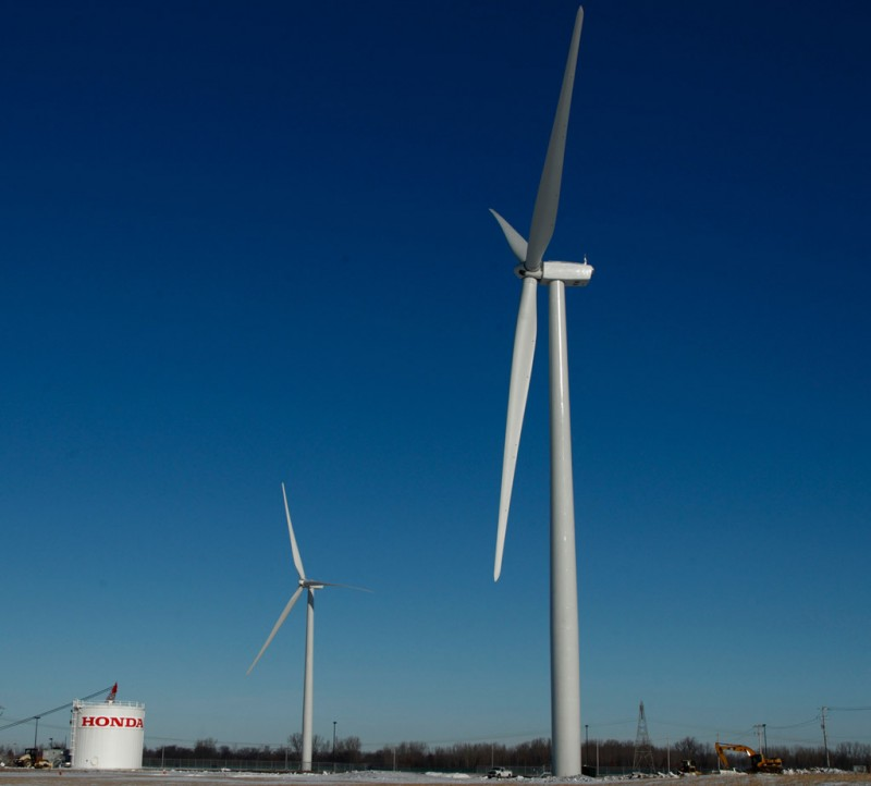 Honda wind turbines