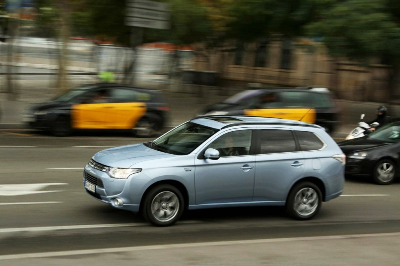 Mitsubishi Outlander PHEV on the road