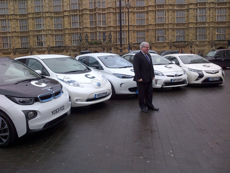 Transport Secretary Patrick McLoughlin at the launch of the Go Ultra Low campaign, where earlier the Deputy Prime Minister announced that government will invest more than £9 million to boost the number of charging points