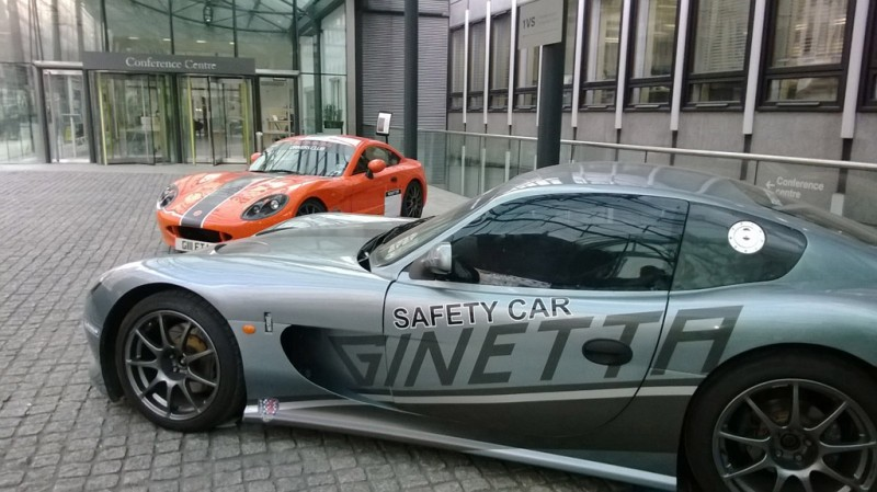 Ginetta sportscars outside BIS