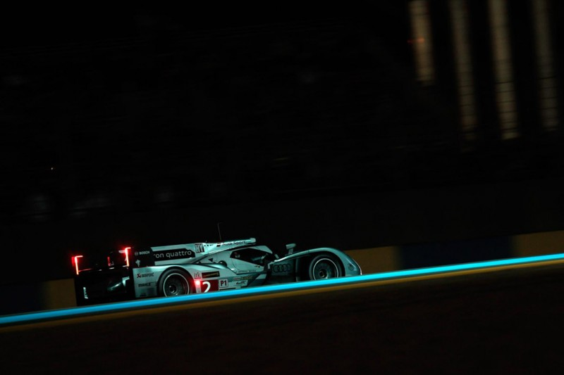 On long straights at Le Mans, Audi drivers might be lifting early to save fuel