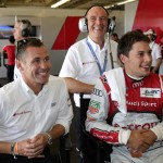 Tom Kristensen (DK), Dr. Wolfgang Ullrich (Head of Audi Sport), Loïc Duval (F)