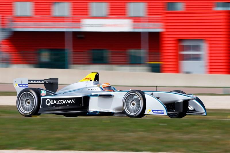 1. Jarno Trulli testing the new Formula E car