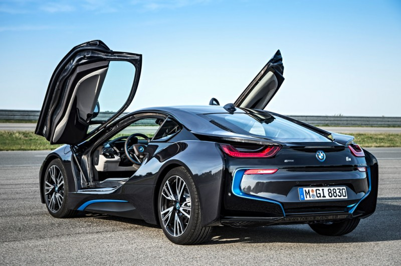 BMW i8 with doors open