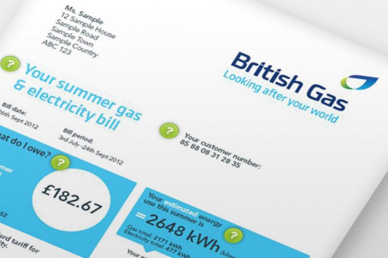 British Gas Bill Sample
