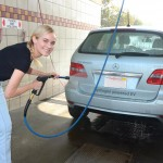 Diane Kruger washing her Mercedes-Benz B-Class F-CELL