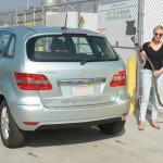 Diane Kruger refuelling her Mercedes-Benz B-Class F-CELL