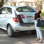 Diane Kruger taking her Mercedes-Benz B-Class F-CELL out for a drive