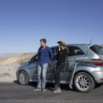 Joshua Jackson & Diane Kruger with the Mercedes-Benz B-Class F-CELL in Death Valley