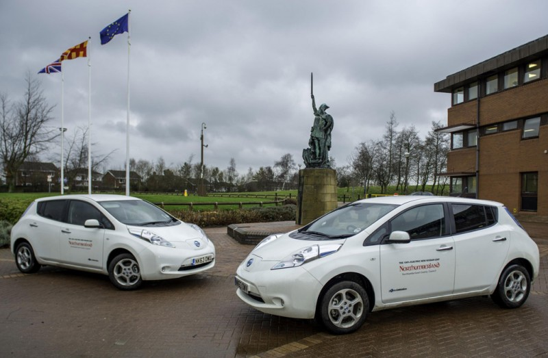Northumberland County Council Nissan LEAFs