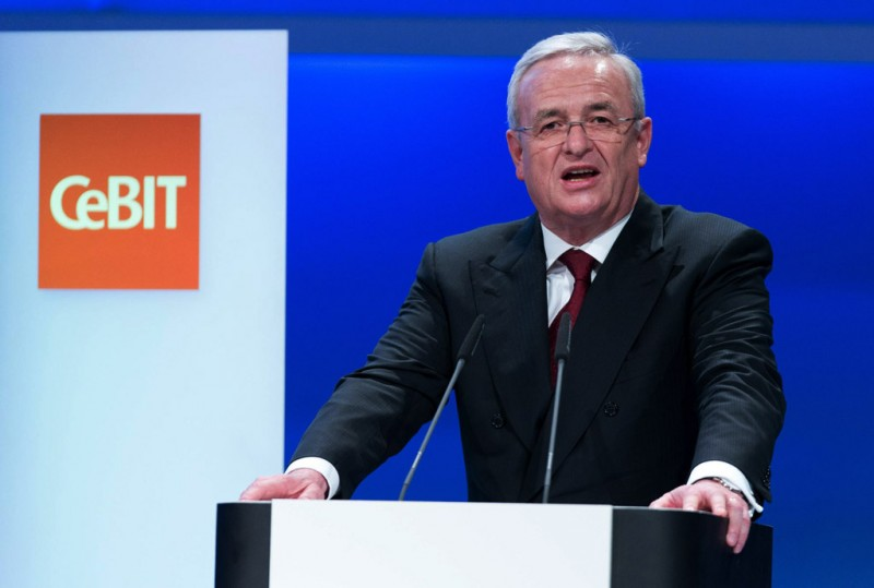Prof. Dr. Martin Winterkorn talking at CeBIT 2014 in Hanover
