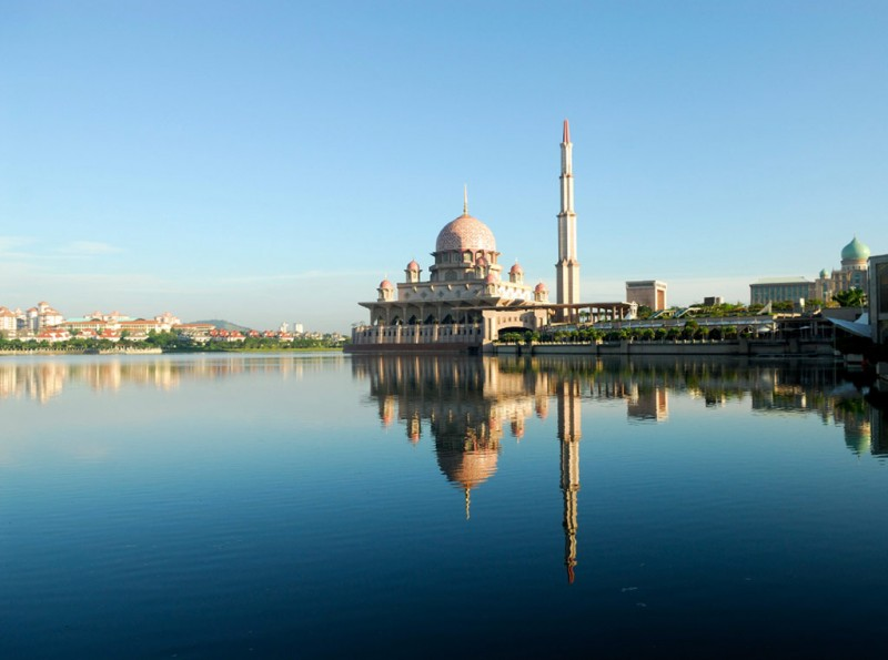 The Perdana Putrain Putrajaya, Malaysia which houses the Prime Minister's Office