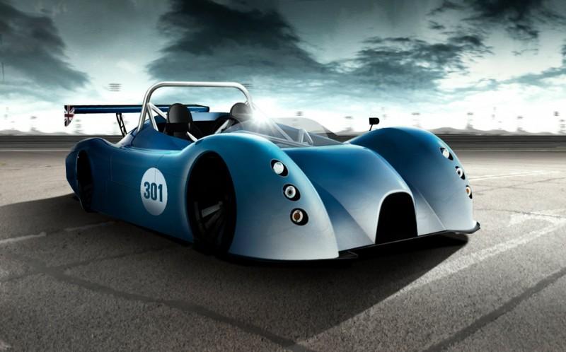 Bluebird electric race car