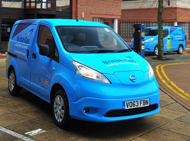 British Gas Nissan e-NV200 Electric Vans