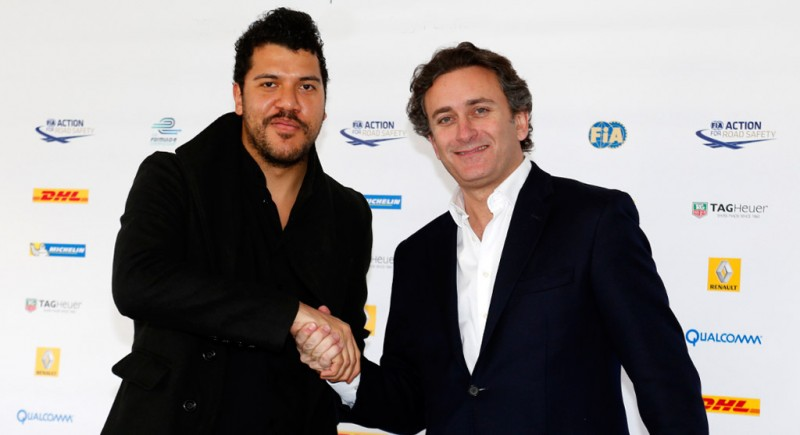 (Left to right) Ben Bronfman, Principal of Business Development at Global Thermostat, with Alejandro Agag, CEO of Formula E