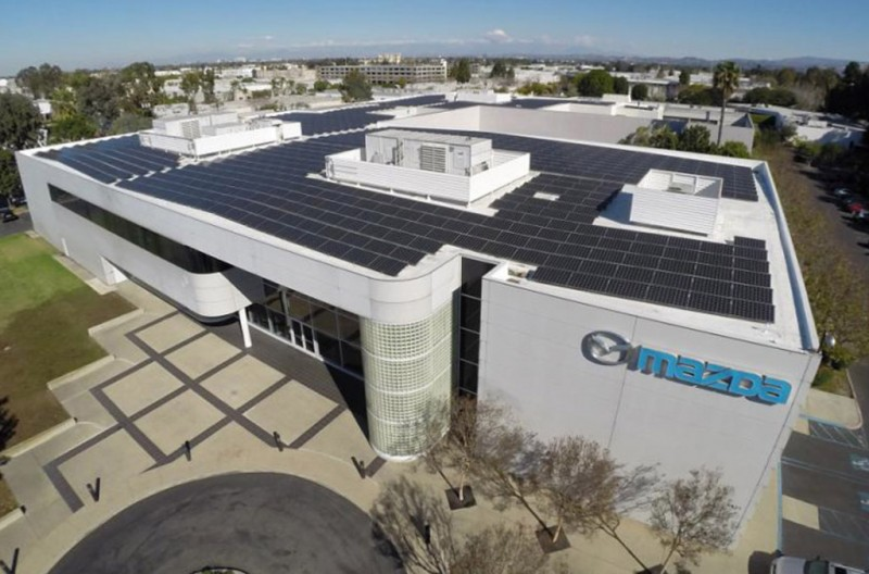 Mitsubishi Electric Solar Modules at Mazda's U.S. R&D Center