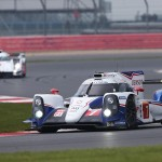 Toyota Leads one of the Audi R18 e-tron quattros