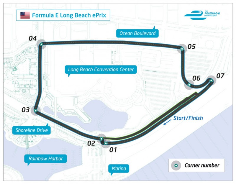 The Long Beach Formula E circuit