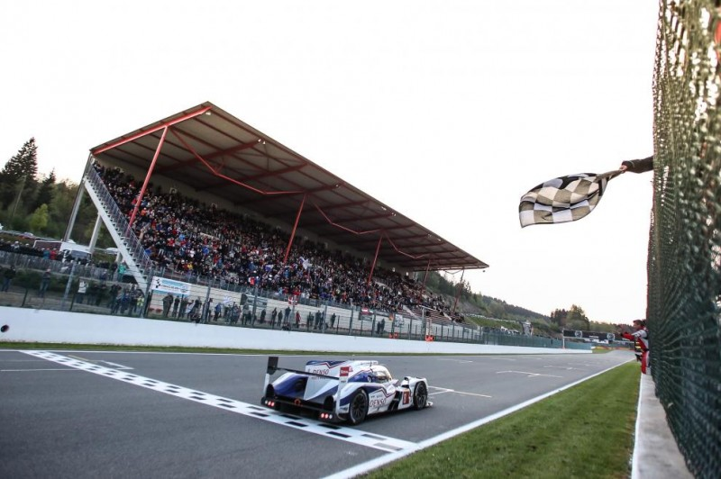 Toyota TS040 takes the chequered flag- 2014 6 Heures de Spa-Francorchamps WEC - © GabiTomescu / AdrenalMedia.com