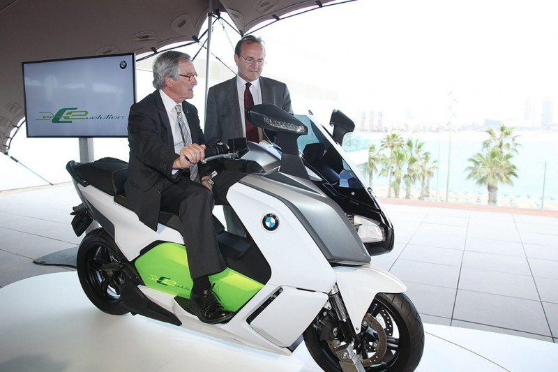BMW C Evolution launch in Barcelona