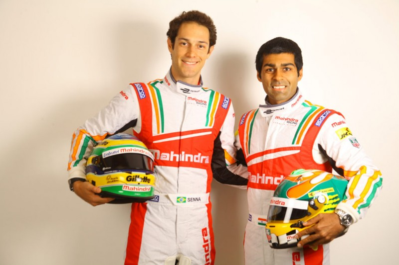 Bruno Senna and Karun Chandhok will race for Mahindra in the FIA Formula E Championship