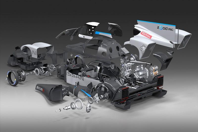 Nissan ZEOD RC Cutaway