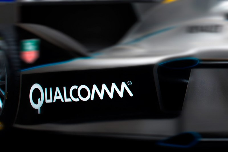 Qualcomm Logo on FE Car