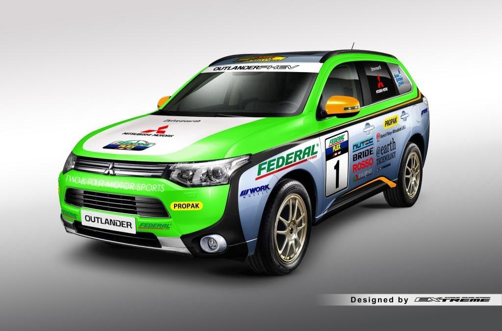Mitsubishi Send Their Outlander PHEV to Tackle the 2014 Asia Rally