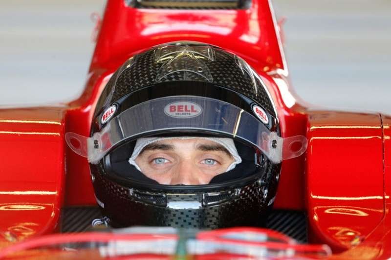 Jérôme d'Ambrosio singed by Dragon Racing - seen sat in a China Racing Formula E car