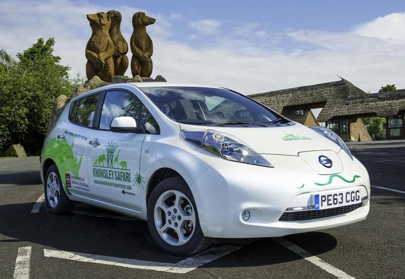 Nissan LEAF at Knowsley Safari