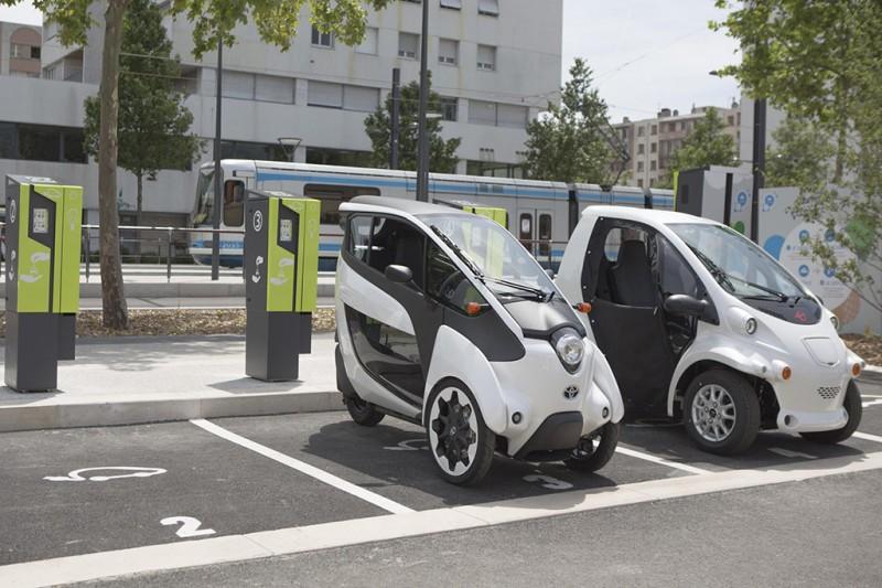 Toyota i-ROAD in Grenoble