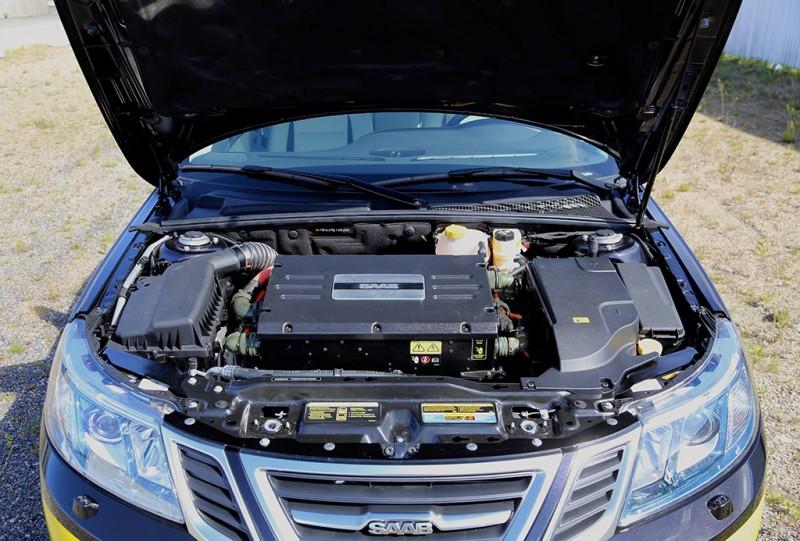 Saab Prototype EV Front - photo credit: Nevs