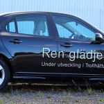 Saab Prototype EV Side - photo credit: Nevs