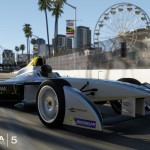 Screen shot of the Formula E car in the Forza Motorsport 5 video game.