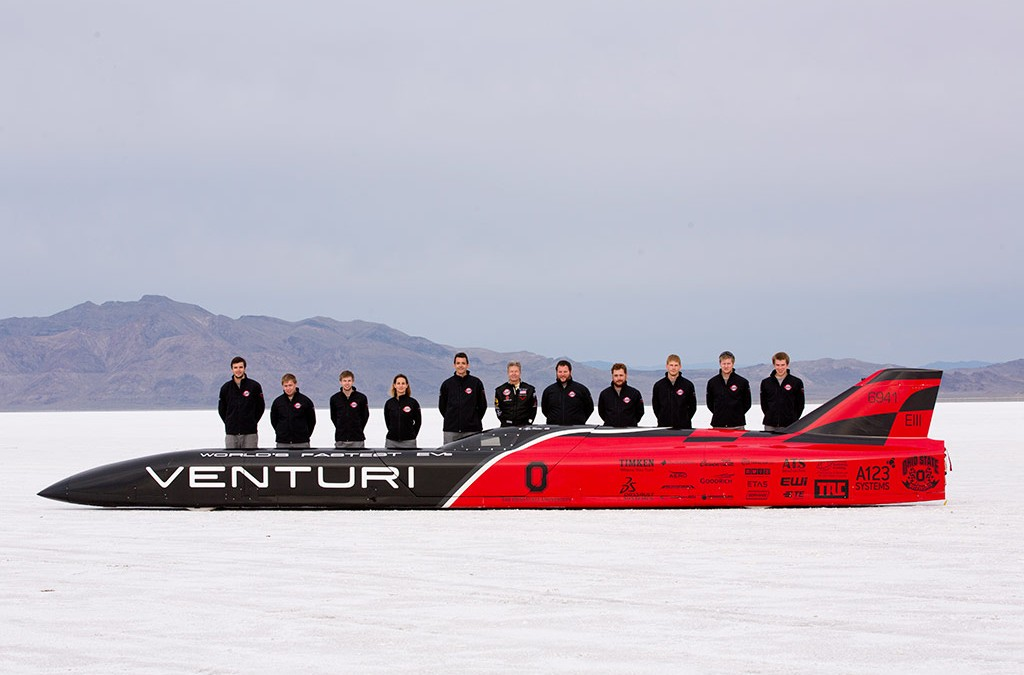 Venturi Set New World Electric Land Speed Class Record