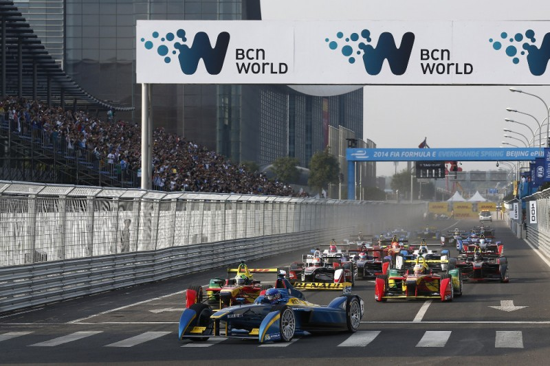 Action from Formula E Beijing ePrix