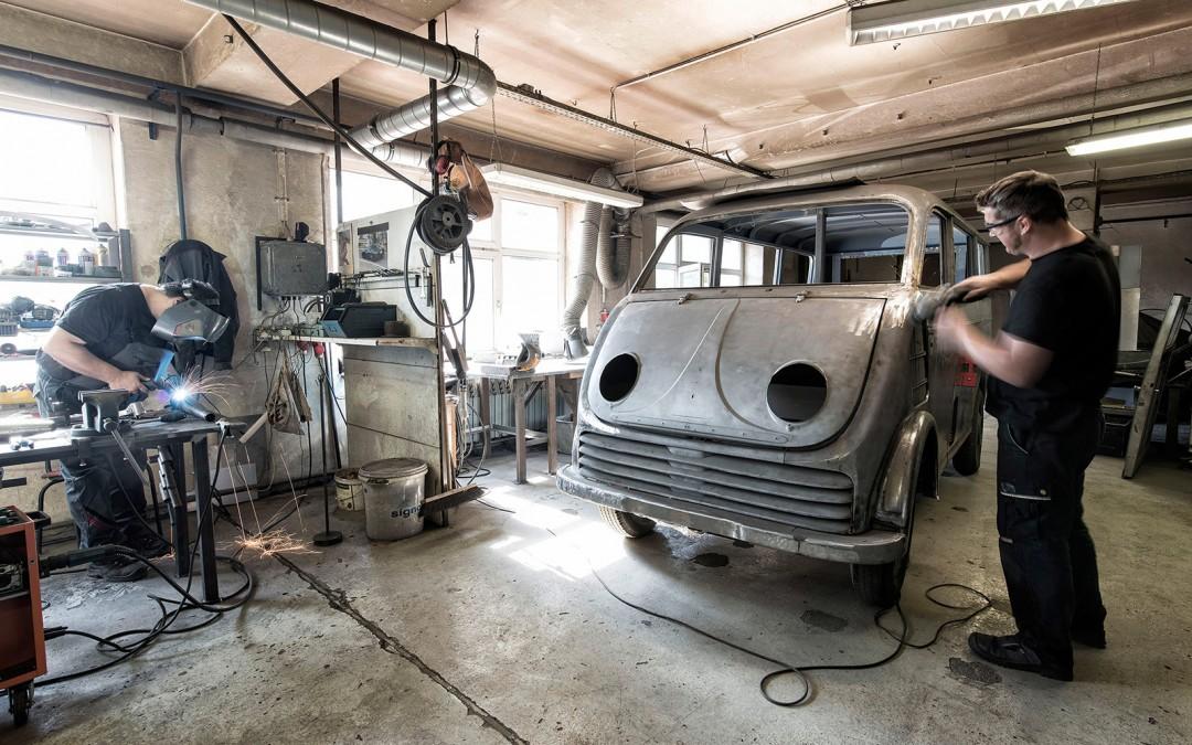 Audi Tradition Restore Historic DKW Schnellaster EV