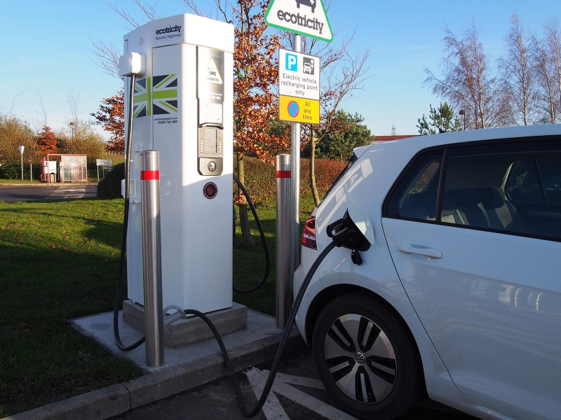 VW e-Golf using Ecotricity rapid charger - PHOTO: Jonathan Musk