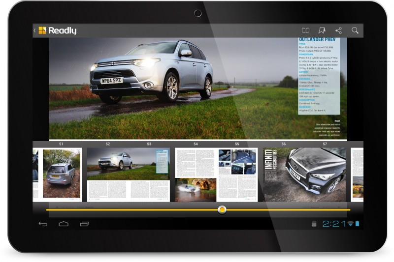 AutoVolt on Readly (Android Tablet)