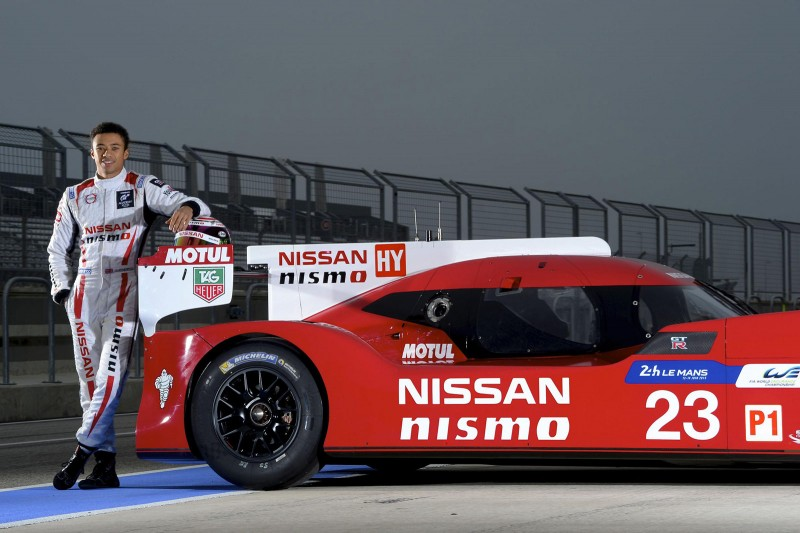 Jann Mardenborough with Nissan GT-R LM Nismo hybrid