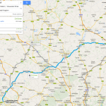 Route Oxford - Cambridge (Google Maps)