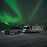 Range Rover Sport Hybrid with Airstream & Aurora Borealis