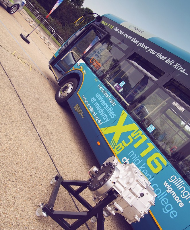 Flybrid Bus at LCV 2014 - PHOTO: Jonathan Musk