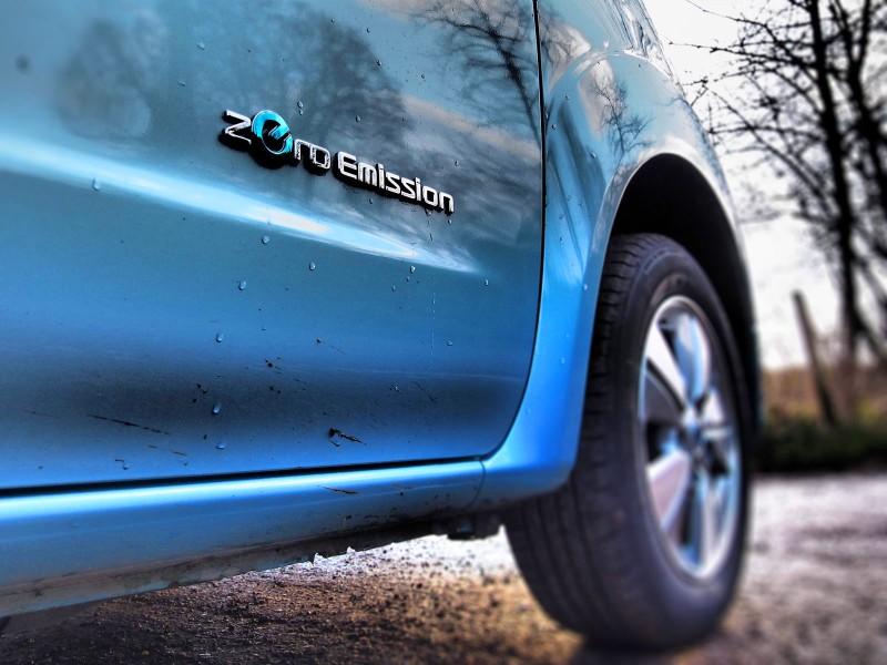 Nissan e-NV200 Combi - Zero Emission sign - PHOTO: Jonathan Musk