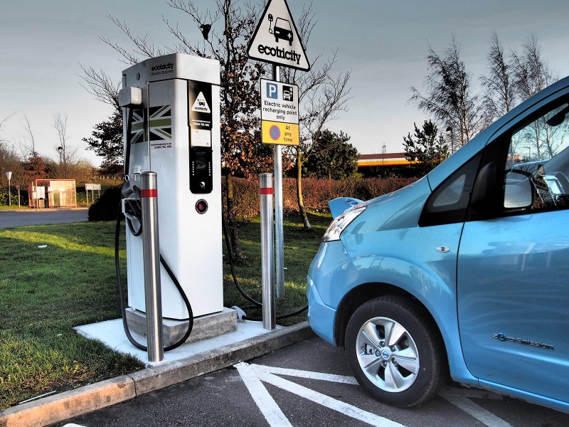 Nissan e-NV200 charging at an Ecotricity Electric Highway charge point - PHOTO: Jonathan Musk