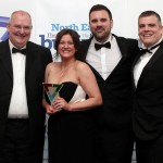 David Donkin of Sunderland University with ELM Electric Vehicle Charging Solutions, Suzie Guest, Daniel Martin and Anthony Piggott