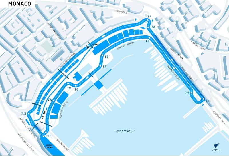 FIA Formula E Monaco ePrix Track