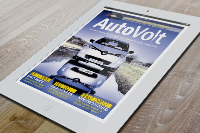 AutoVolt ipad on wood